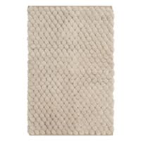 Vista Living Pom Pom Shag 2-Foot 3-Inch x 3-Foot 9-Inch Accent Rug in Beige
