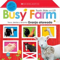 """Scholastic Touch, Slide and Lift """"Busy Farm"""" Board Book (English/Spanish)"""