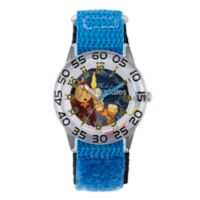 "Disney® ""Beauty and the Beast"" Children's 32mm Time Teacher Watch with Blue Nylon Strap"
