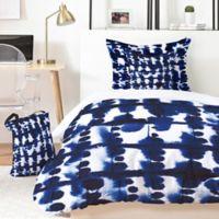 Deny Designs Jacqueline Maldonado Parallel 4-Piece Twin XL Duvet Cover Set in Blue