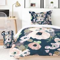 Deny Designs Khristian A. Howell Une Femme 5-Piece King Duvet Cover Set in Blue