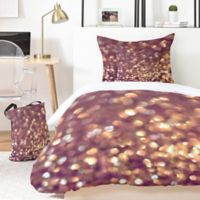 Deny Designs Lisa Argyropolous Mingle 4-Piece Twin XL Duvet Cover Set in Gold/Purple