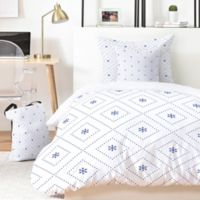 Deny Designs Lara Kulpa Creamy Dreamy Classic 5-Piece King Duvet Cover Set in Blue/White