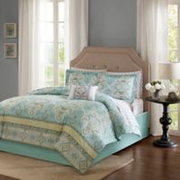 Madison Park Essentials Cara 9-Piece King Comforter Set in Aqua