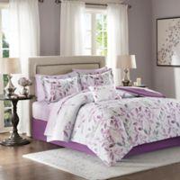 Madison Park Essentials Lafael 9-Piece Full Comforter Set in Purple