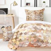 Deny Designs Monika Strigel Really Mermaid Mystic 5-Piece King Duvet Cover Set in Gold