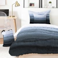 Deny Designs Monika Strigel Within the Tides Stormy Weather 5-Piece King Duvet Cover Set in Grey