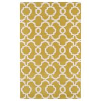 Kaleen Revolution Trellis 9-Foot 6-Inch x 13-Foot Area Rug in Yellow