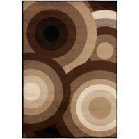 Surya Peroz Circles 2-Foot x 3-Foot Accent Rug in Dark Brown