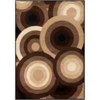 Surya Peroz Circles 6-Foot 7-Inch x 9-Foot 6-Inch Area Rug in Dark Brown