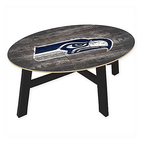 Nfl Seattle Seahawks Distressed Wood Coffee Table Bed Bath Beyond