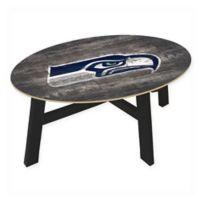 NFL Seattle Seahawks Distressed Wood Coffee Table