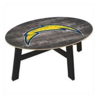NFL Los Angeles Chargers Distressed Wood Coffee Table