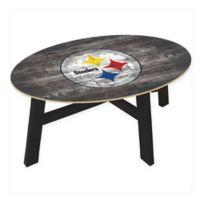 NFL Pittsburgh Steelers Distressed Wood Coffee Table
