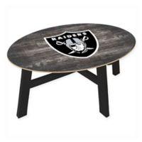 NFL Oakland Raiders Distressed Wood Coffee Table