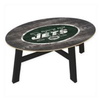 NFL New York Jets Distressed Wood Coffee Table