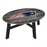 NFL New England Patriots Distressed Wood Coffee Table