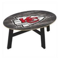 NFL Kansas City Chiefs Distressed Wood Coffee Table