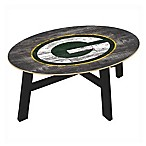 NFL Green Bay Packers Distressed Wood Coffee Table