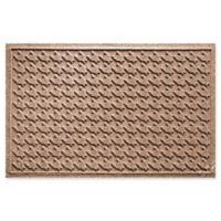 Weather Guard™ Houndstooth 24-Inch x 36-Inch Door Mat in Brown