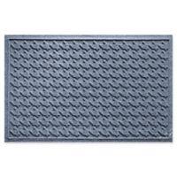 Weather Guard™ Houndstooth 24-Inch x 36-Inch Door Mat in Blue