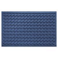 Weather Guard™ Houndstooth 24-Inch x 36-Inch Door Mat in Navy