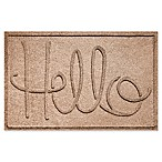 "Weather Guard™ ""Hello"" 24-Inch x 36-Inch Door Mat in Brown"
