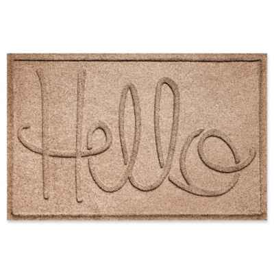 "Weather Guard™ ""Hello"" 24-Inch x 36-Inch Door Mat"
