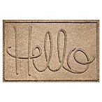 "Weather Guard™ ""Hello"" 24-Inch x 36-Inch Door Mat in Camel"