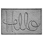 "Weather Guard™ ""Hello"" 24-Inch x 36-Inch Door Mat in Grey"