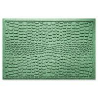 Weather Guard™ Alligator 24-Inch x 36-Inch Door Mat in Light Green