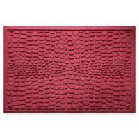 Weather Guard™ Alligator 24-Inch x 36-Inch Door Mat in Red/Black