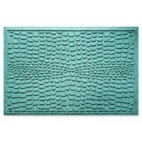 Weather Guard™ Alligator 24-Inch x 36-Inch Door Mat in Aqua