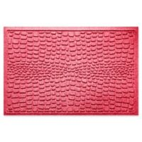 Weather Guard™ Alligator 24-Inch x 36-Inch Door Mat in Solid Red