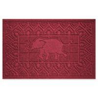 Weather Guard™ Elephant 24-Inch x 36-Inch Door Mat in Red/Black