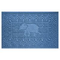 Weather Guard™ Elephant 24-Inch x 36-Inch Door Mat in Blue