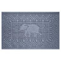 Weather Guard™ Elephant 24-Inch x 36-Inch Door Mat in Blue/Grey