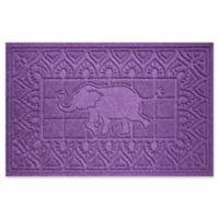Weather Guard™ Elephant 24-Inch x 36-Inch Door Mat in Purple