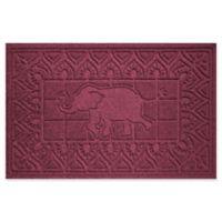 Weather Guard™ Elephant 24-Inch x 36-Inch Door Mat in Burgundy