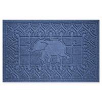 Weather Guard™ Elephant 24-Inch x 36-Inch Door Mat in Navy