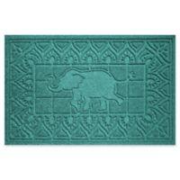 Weather Guard™ Elephant 24-Inch x 36-Inch Door Mat in Aqua