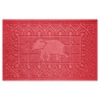 Weather Guard™ Elephant 24-Inch x 36-Inch Door Mat in Solid Red
