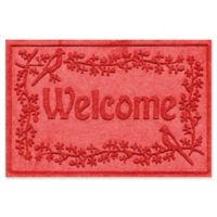 Weather Guard™ Bird on a Branch 24-Inch x 36-Inch Door Mat in Solid Red