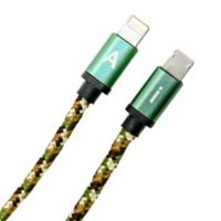 6-Foot Reversible Charging Cable in Green Camo