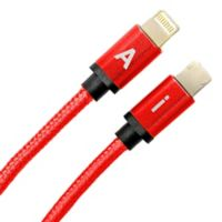 6-Foot Reversible Charging Cable in Bright Red