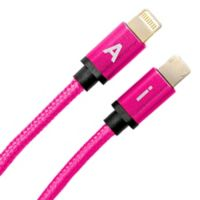 6-Foot Reversible Charging Cable in Hot Pink