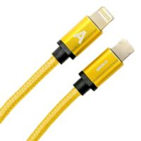 6-Foot Reversible Charging Cable in Bright Yellow