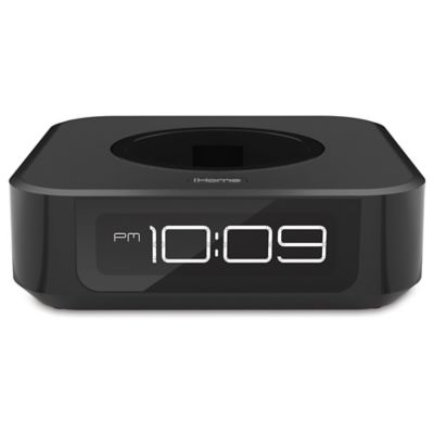 product image for ihome docking bedside speaker for amazon echo dot in black