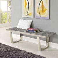 Modway 4-Foot Stainless Steel Sauna Bench in Silver