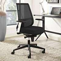 Modway Pump Office Chair in Black/White